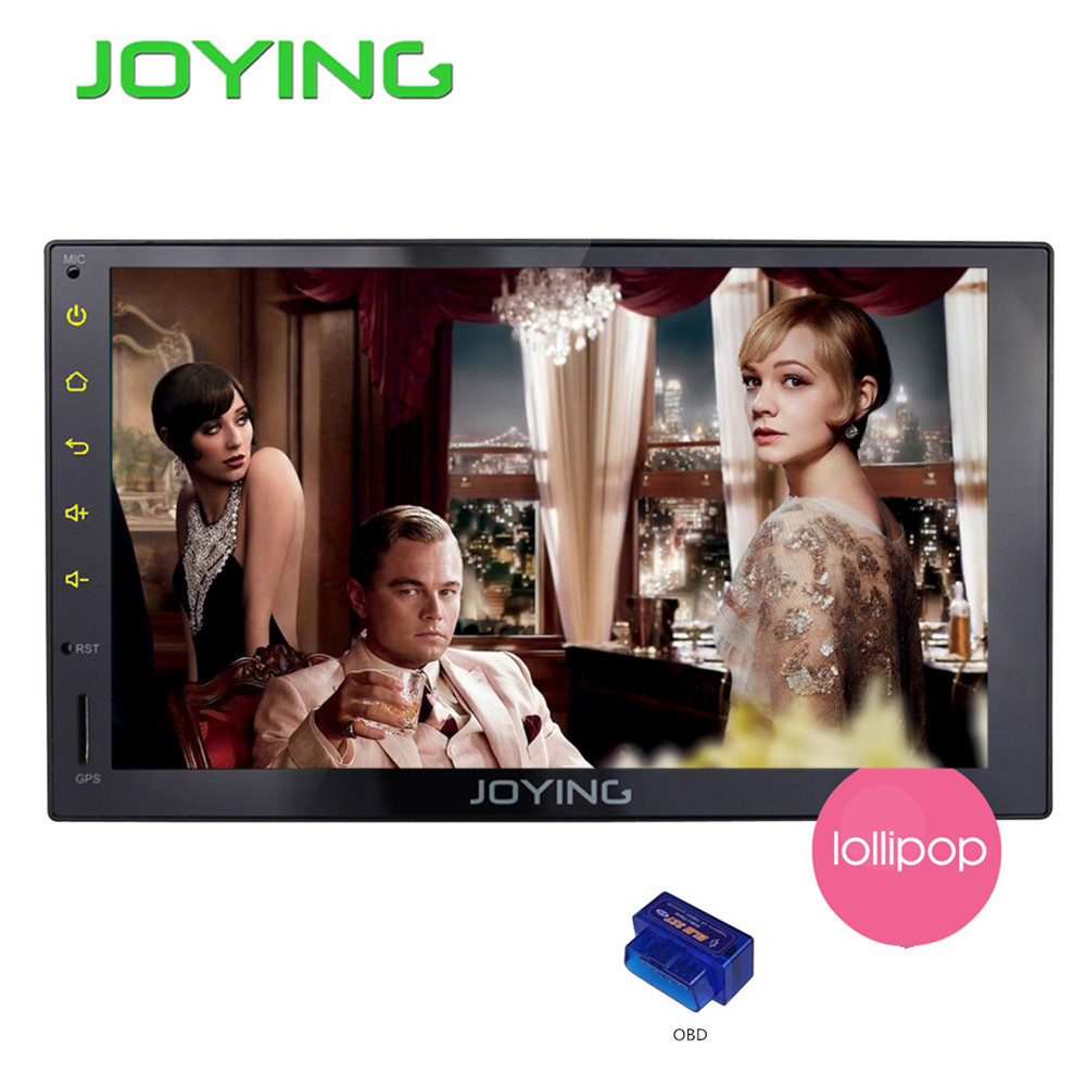 Joying Universal Car PC Android 5.1.1 Lollipop 7 Inch Head Unit RK3188 Quad Core 1024*600 HD GPS Navigation Car Stereo Radio+OBD(China (Mainland))