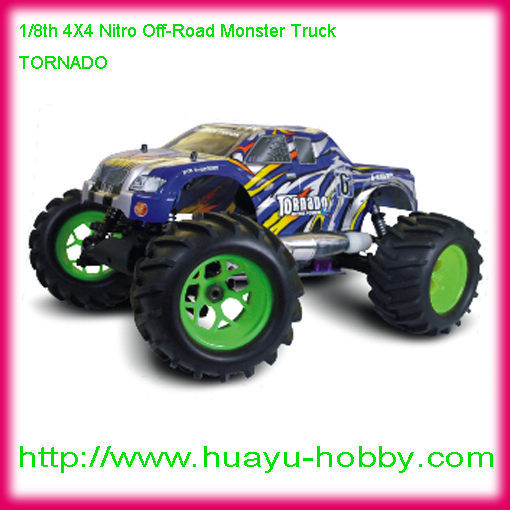 TORNADO 1/8th 4wd  Scale Nitro Off-Road Monster Truck Toys car 94083 RTR<br><br>Aliexpress