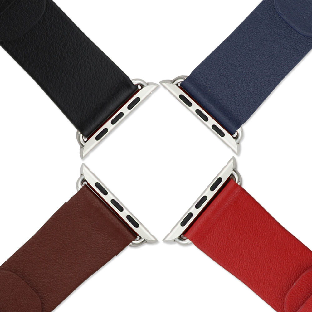 Wholesale 10PCS/lot High quality 38MM genuine leather watch band (for 38mm apple watch including 1pair buckle) iwatch strap- A02<br><br>Aliexpress