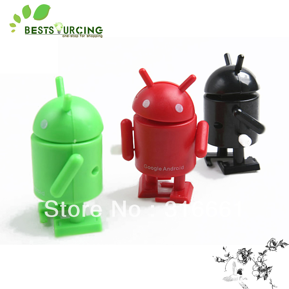 Free shipping 45pcs/set Mini Google Android Series Robots Toy kids toys robot(China (Mainland))