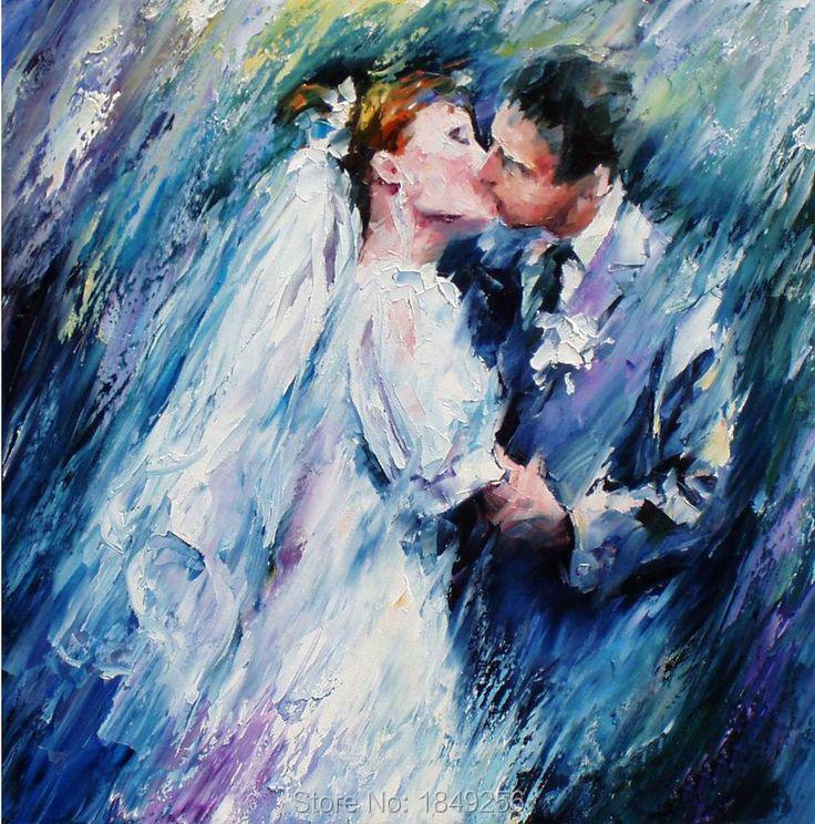 Kissing Romantic Wedding Decoration Home Wall Lovers Fall