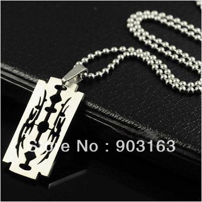 Wholesale Popular 1pcs best selling New Arrival Man Stainless Steel blade Pendant free Chain Gift + free shipping
