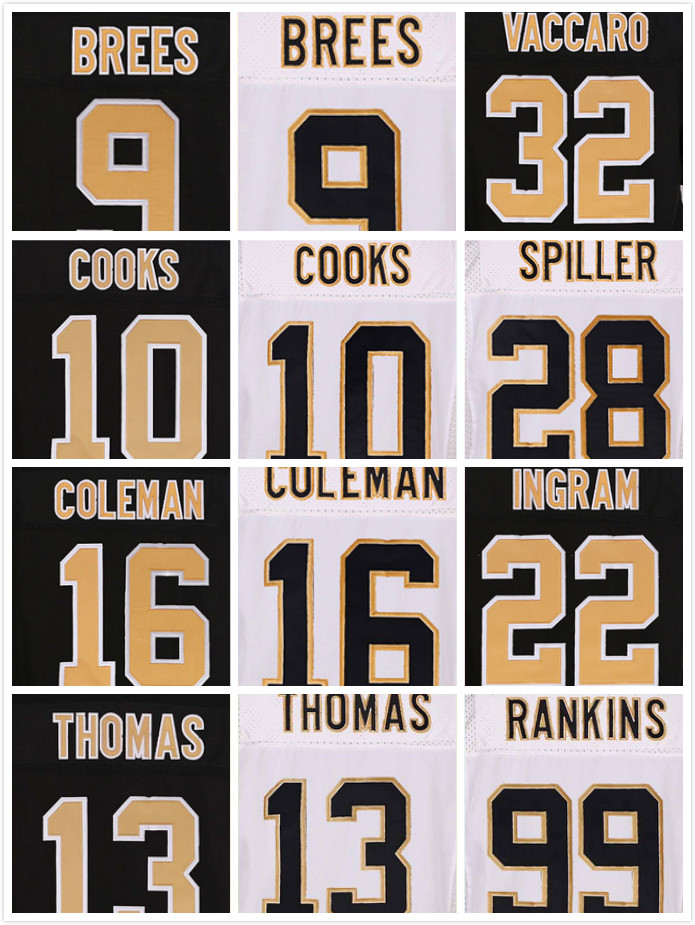Stitched 9 Drew Brees Jersey 10 Brandin Cooks 32 Kenny Vaccaro 22 Mark Ingram 28 CJ Spiller 16 Brandon Elite Jerseys(China (Mainland))