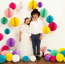 Hot Sale!!! 20cm Tissue Paper Honeycomb Balls Festival Decorations Wedding Party(China (Mainland))