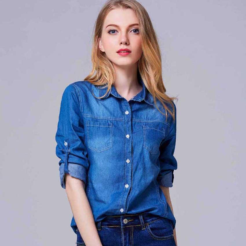 Resultado de imagen para blusas de jeans largas