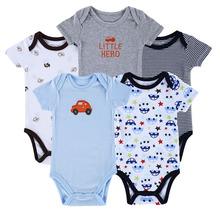 Baby Bodysuits Newborn Ropa Bebe 5pcs/ lot 100% Cotton  Raccoon Body Babies Boy Girl Boy Baby Bodysuits 0-12 months  bebe menino(China (Mainland))
