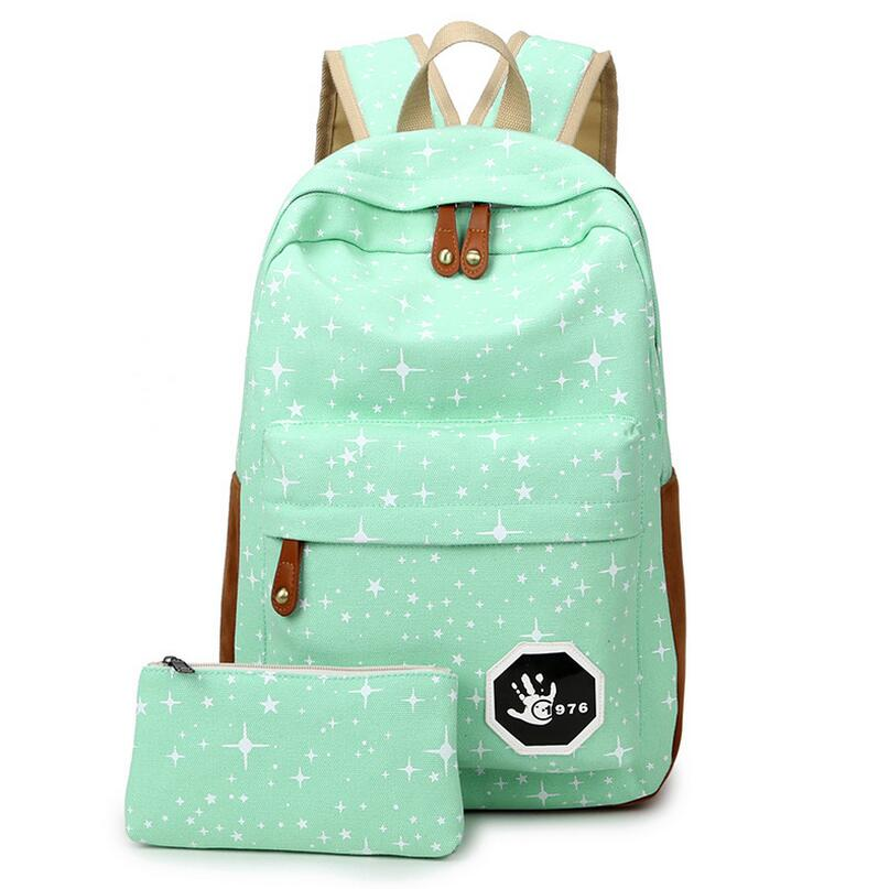 Luggage & Bags Fashion Star Women Men Canvas Backpack Schoolbags ...