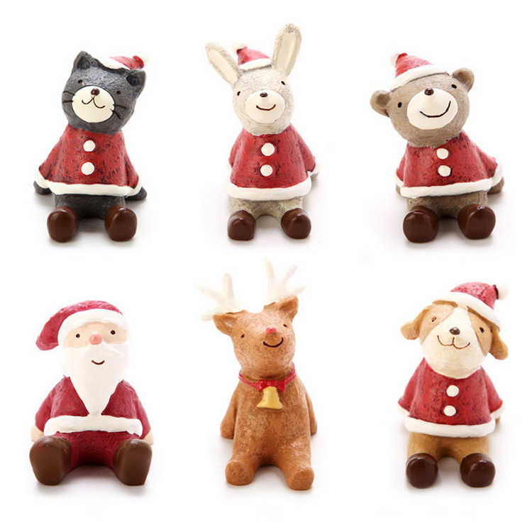 Q Christmas decorations are creative gift grocery small font b animal b font painted resin handicraft