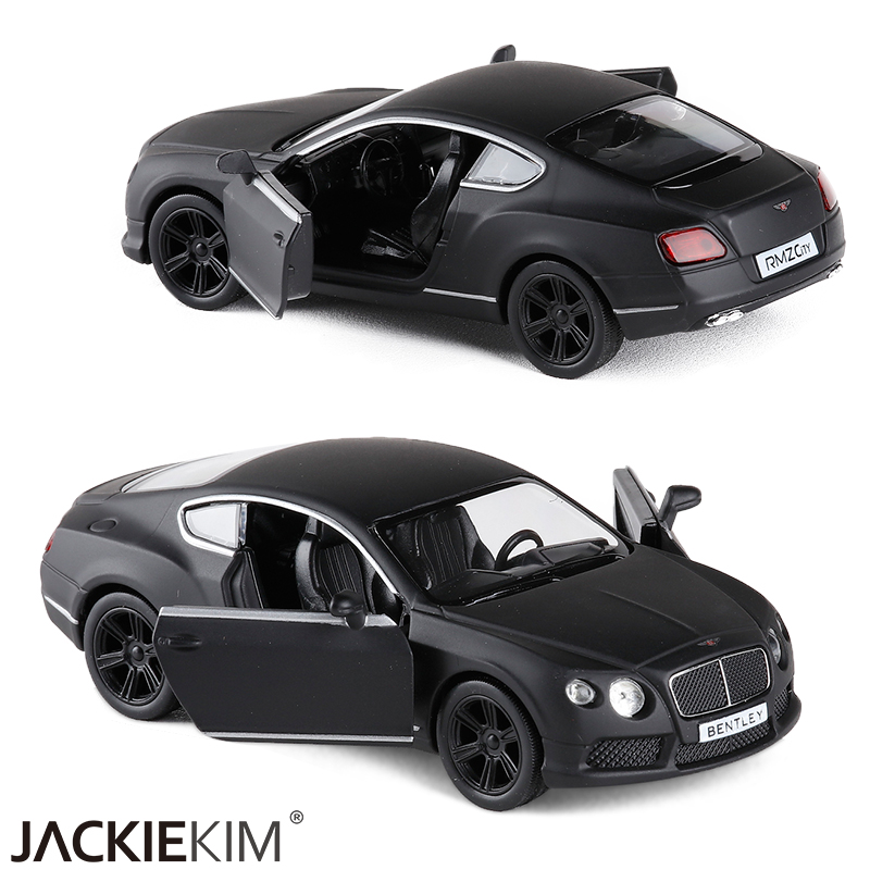 New RMZ city matte black Bentley Continental 1/36 Scale 5 Inch Diecast Vehicles Model Car Toys Best Gift for Kids Free Shipping(China (Mainland))