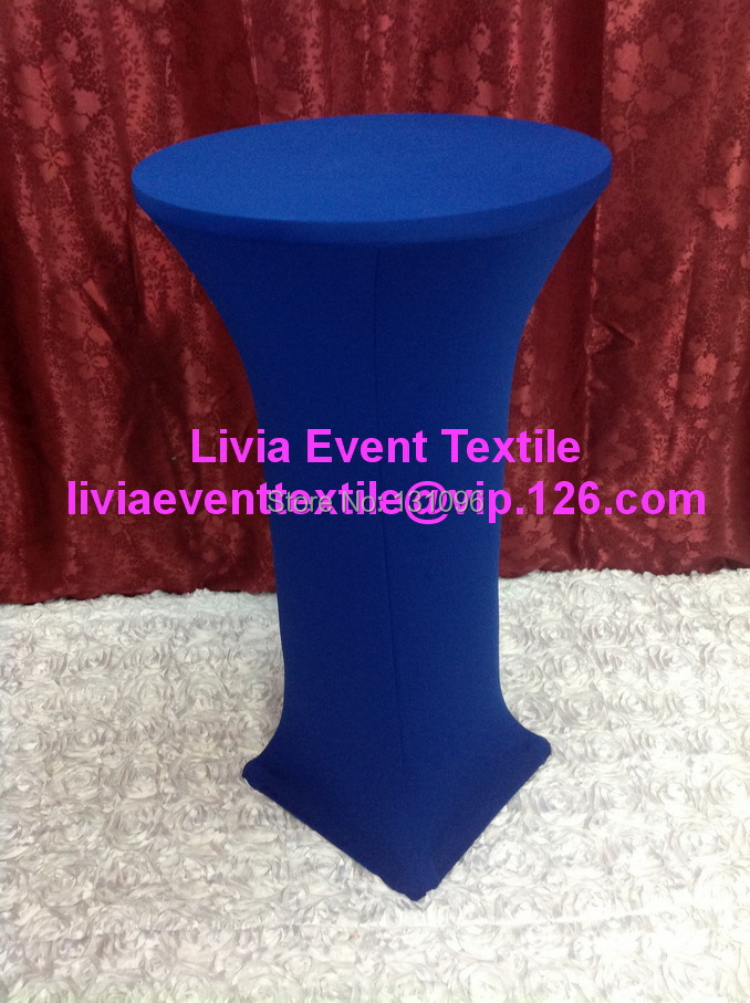 10pcs Extra Larger #29 Royal Blue Lycra Cocktail Table Cover ,Lycra Dry Bar Cover Wedding Events &Party Decoration(China (Mainland))