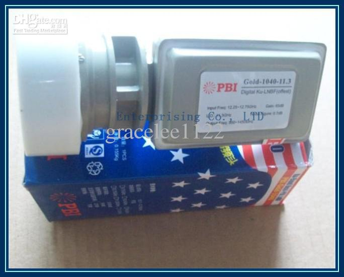 New PBI gold 1040 Ku-band,dual-polarization,single output LNBF, Ku band LNB(China (Mainland))