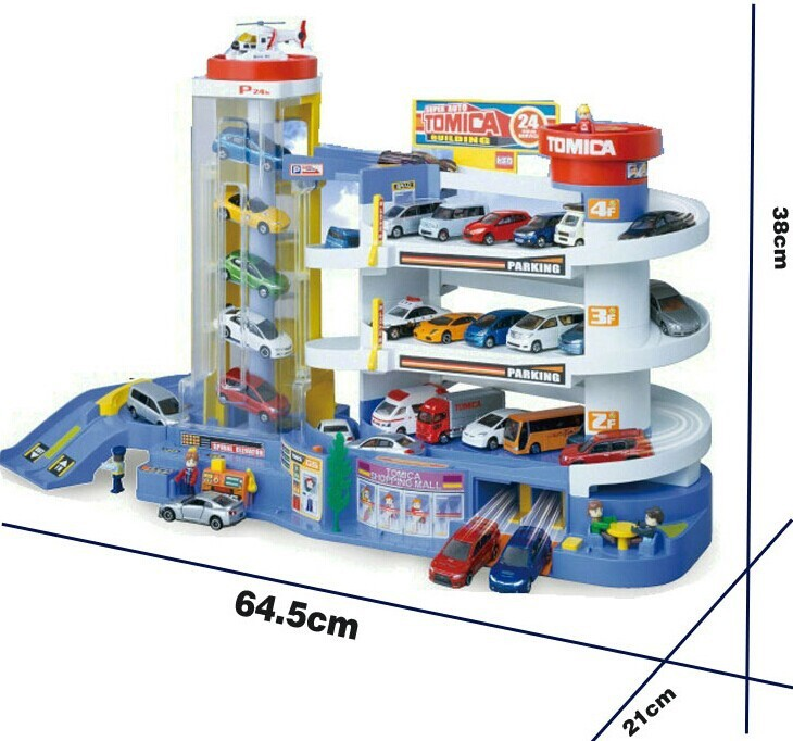 100% model TOMY TOMICA Tremendous constructing automobile parking toy tomica auto development of parking tons monitor automobile Railroad Toy for boys