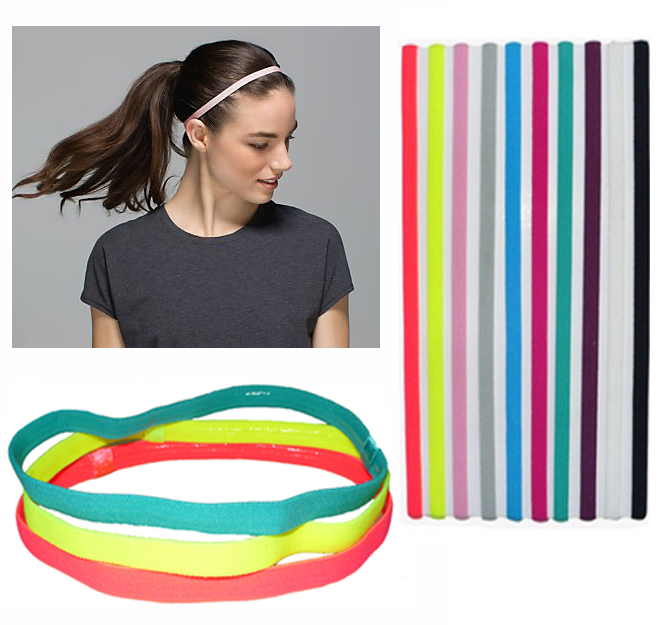 (10 pieces/lot) Sports Elastic Headband Football Softball Rubber Plastic Silicone Hair Band Bandage On Head Gum For Hair(China (Mainland))