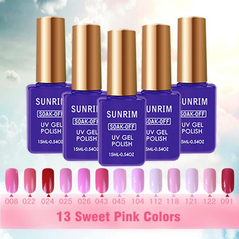 Sweet Pink UV Gel Color Nail Lacquers 15ml Primer Nail Gel Lucky Vernis Artificial Nails Soak Off Gel Polish Sioux UV Varnish(China (Mainland))
