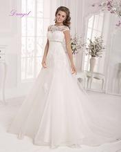 Buy Dreagel New Fashion O-neck Appliques A-Line Vintage Wedding Dress 2017 Delicate Beaded Belt Princess Bride Gown Vestido de Noiva for $191.99 in AliExpress store
