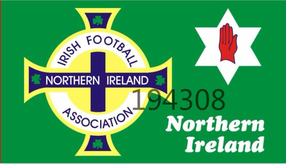 Free Shipping 90*150cm Northern Ireland Football Flag Red Hand Ulster Loyalist Soccer Sports Game For 2016 Euro Cup(China (Mainland))