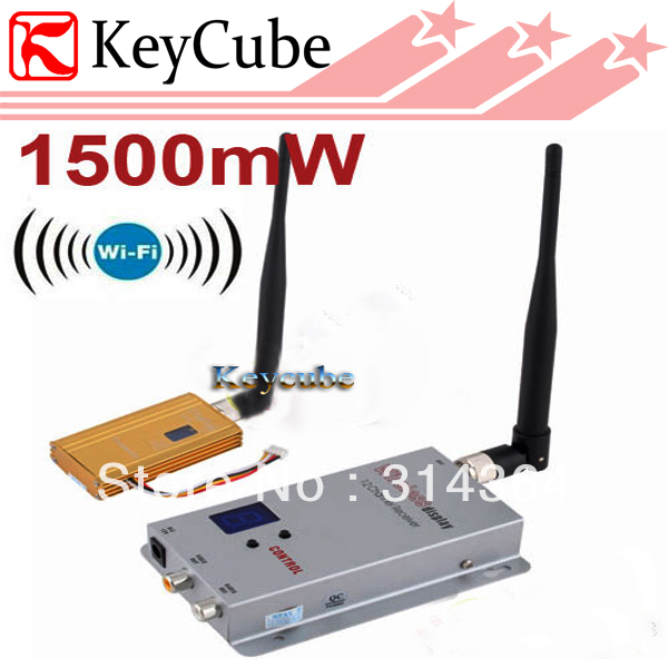 1.2GHz 1500mW Wireless AV Transmitter and 8 Channels Wireless AV Receiver, Audio/Video Output For FPV(China (Mainland))