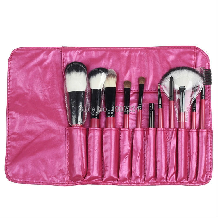 Natural Wood Handle Professional 11Pcs Makeup Brushes Cosmetics Tools  Eyeshadow Blush Soft Cosmetic Brush Set