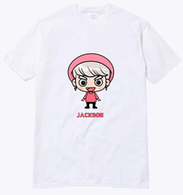 Buy 2016 summer simple white t shirt kpop got7 member cartoon image printing o neck short sleeve t-shirt plus size lovers tees for $14.96 in AliExpress store