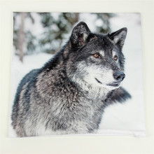 Wolf 3d 1 Side Printing Throw Pillows Cover for Couch