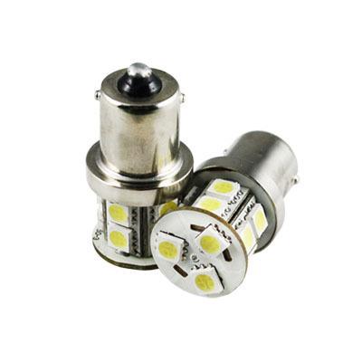50pcs Car 1156 BA15S Tail Brake 13 LED 5050 SMD DC 12v Turn Signal White Light Bulb Lamp