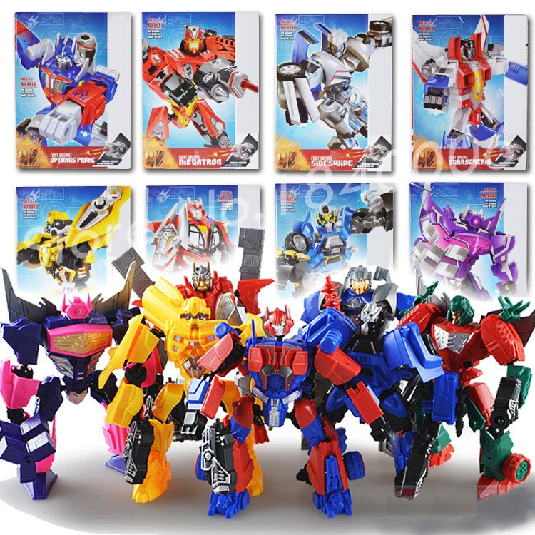 Гаджет  18cm transformation Kids Toys Brinquedos Optimus Prime Robot Car New Anime Action Figure Assembly Juguetes BUMBLEBEE Boys 8Types None Игрушки и Хобби