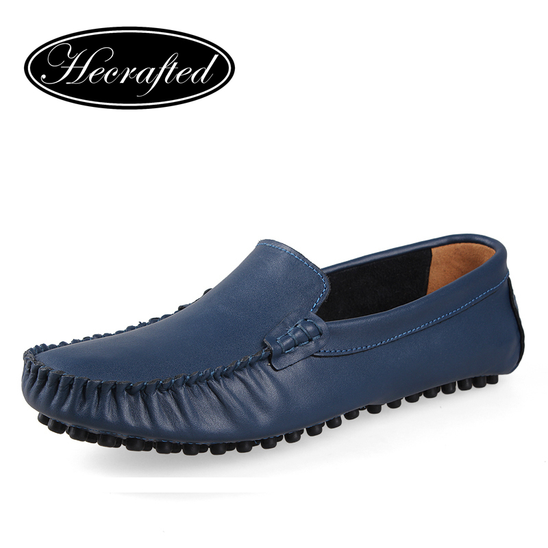 Size 6.5~15 handmade Genuine leather men Casual Flats driving shoes,Business men flat shoes original HECRAFTED brands(China (Mainland))