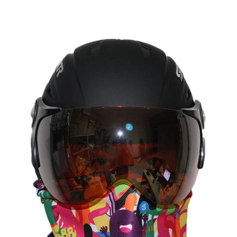 Free shipping 2016 hot sale ABS five color factory supply adult ski helmets skateboarding skiing helmets
