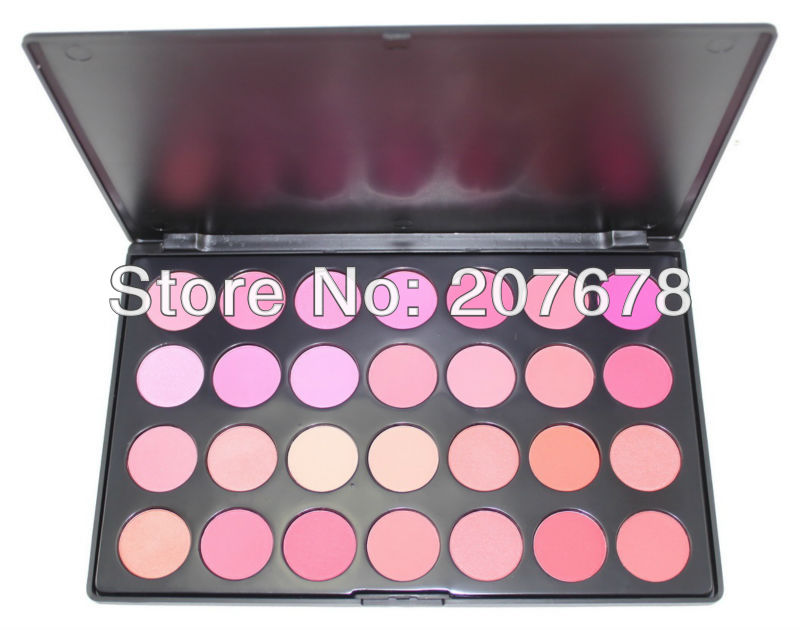 Free Shiping Beauty Product Series-- Wonderful Leading-the-trend 28 Color Makeup Blush Face Blusher Powder Palette Cosmetic(China (Mainland))