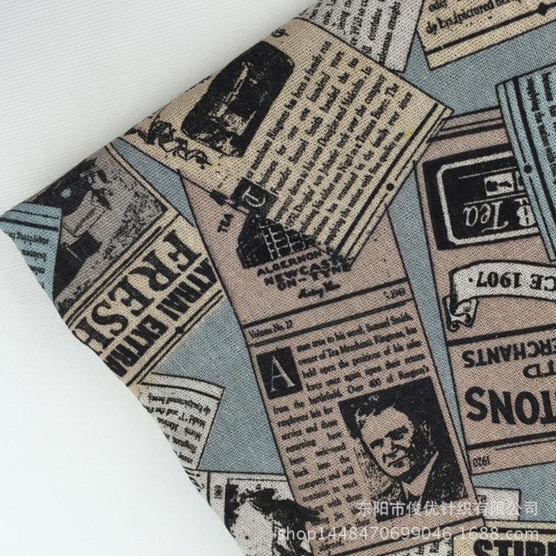 Popular Newspaper Print Fabric-Buy Cheap Newspaper Print ...