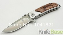 Browning Folding knife 338 Falcon hand-sanding 57HRC 440C steel + aluminum Handle hunting knives  5pcs/lot wholesale