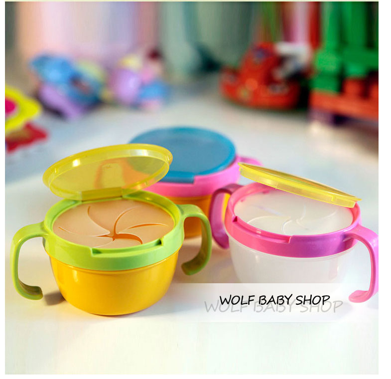 Retail Child double handle snack cup biscuits candy cans bpa free shopping 2014 baby infant Edible safety Dinnerware - wolf shop store