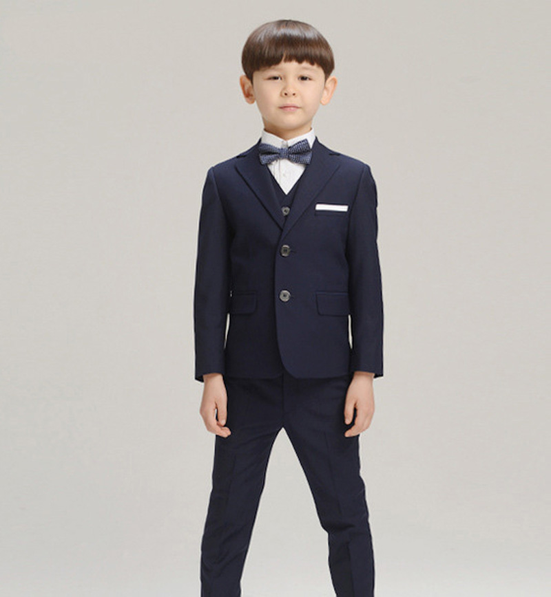 Boys suits for weddings Kids Prom Suits Black Wedding Suits for Boys Big Children Clothing Set Boy Formal Classic Costume(China (Mainland))