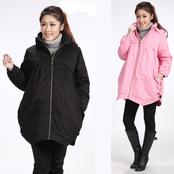 Plus Size XXL 2015 Fashion Maternity Clothing Cotton-Padded Jacket Outerwear Winter Thermal Wadded Overcoat For Pregnanct Women(China (Mainland))