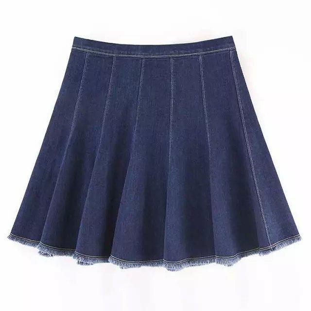 Gt07 женщины элегантный винтажный плиссировка вспышки Мини молния завышенная талия ...