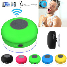 Portable Subwoofer Waterproof Shower Wireless Bluetooth Speaker Car Handsfree Receive Call Music Suction Phone Mic For iPhone(China (Mainland))