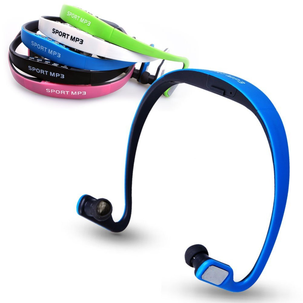 Stereo Sport MP3 Player Headset Wrap Around Wireless Headphone/Earphone TF card slot + FM Radio<br><br>Aliexpress