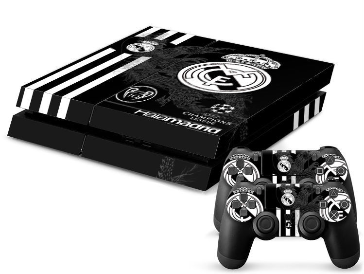 Free Shipping Black Real Madrid football team Skins for Playstation4 for PS4 Stickers La Liga champions league winner Protective(China (Mainland))