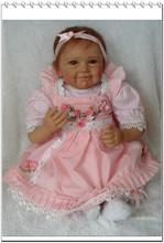 Buy 22inch Silicone Reborn Baby Alive Lifelike Girl Doll Kits Girl Women Nursery Treats Toy Gifts