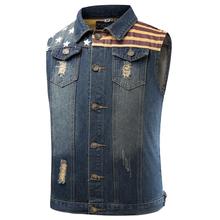 New Designs Mens Denim Vest Plus Size 3XL Double Pockets Fashion Jeans Waistcoat Male Brand-Clothing Sleeveless Jacket Men Vests(China (Mainland))