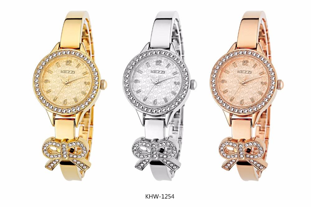 KEZZI 2016 ТОП НОВАЯ Мода Марка Женщины Роскошные Часы Высокое Качество Кварцевые Дамы Наручные Часы Классический Дизайн Формы Relogio Feminino