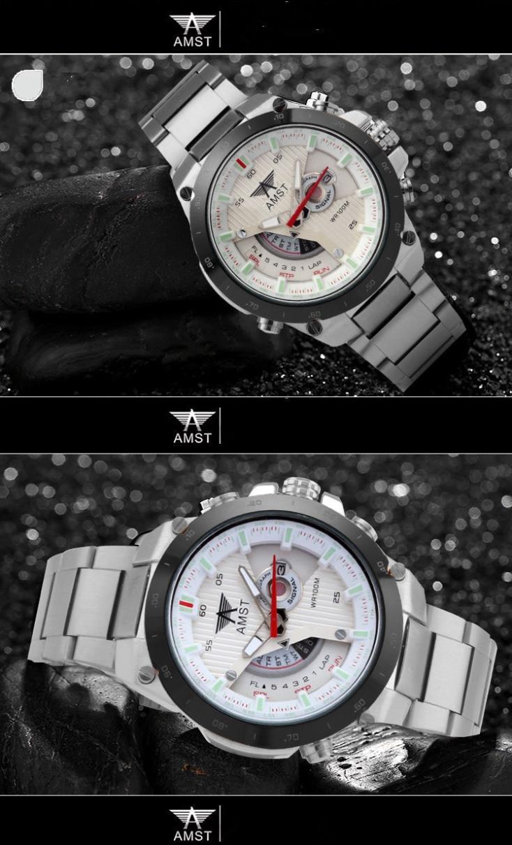 2015 Новые часы Мужчины Дата День Нержавеющей Стали часы relojes мужской Часы Часы Мужчины военный Кварц Часы Наручные Спорт