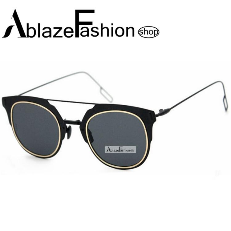 Женские солнцезащитные очки Ablaze Fashion shop 2015 zonnebril oculos espelhado 9 AF-S12 korean fashion shop 7th 6388 2015