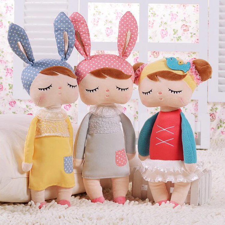 Metoo Dolls Angela rabbit 35cm baby plush toy doll sweet cute stuffed toys Dolls for kids girls Birthday Christmas Gift (19)