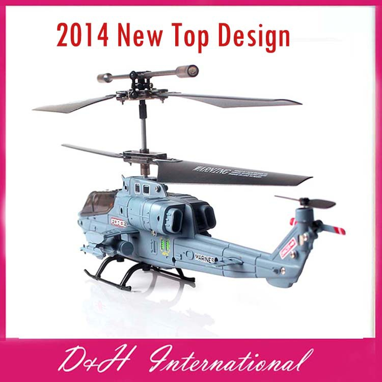 2014 New Top Design RC helicopter 3CH RC Marines Cobra Attack Pattern helicopter model top gift for children wholesales(Hong Kong)