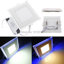 10W 15W 20W Led Panel Light AC 110-265V Square Led ceiling Light Panel Free Shipping(China (Mainland))