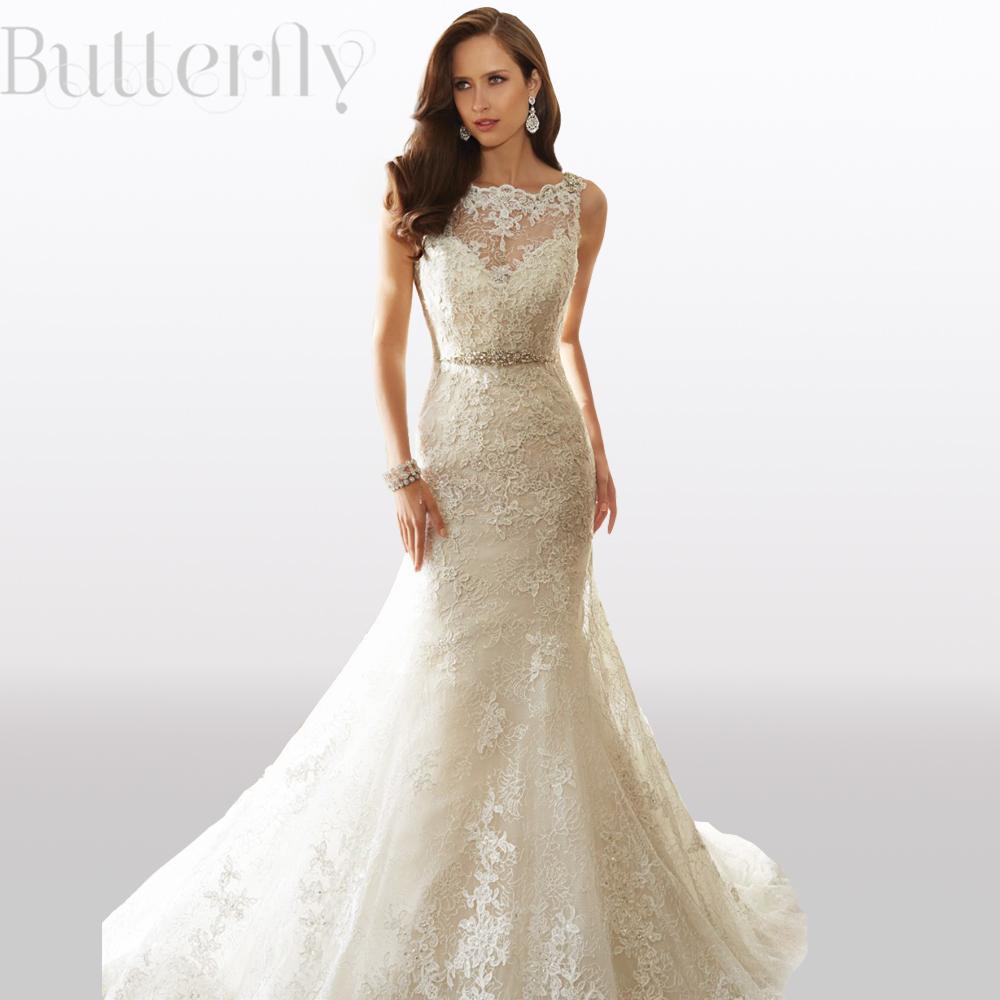 Vintage mermaid wedding dresses 2015 new elegant high neck for Backless wedding dresses for sale