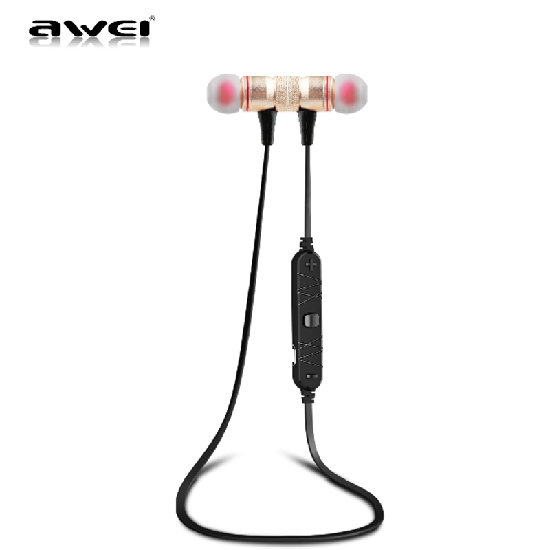 Newest Awei A920BL Wireless Bluetooth Sports Headphones Headset Stereo Earbuds Noise Reduction Earphones With Microphone