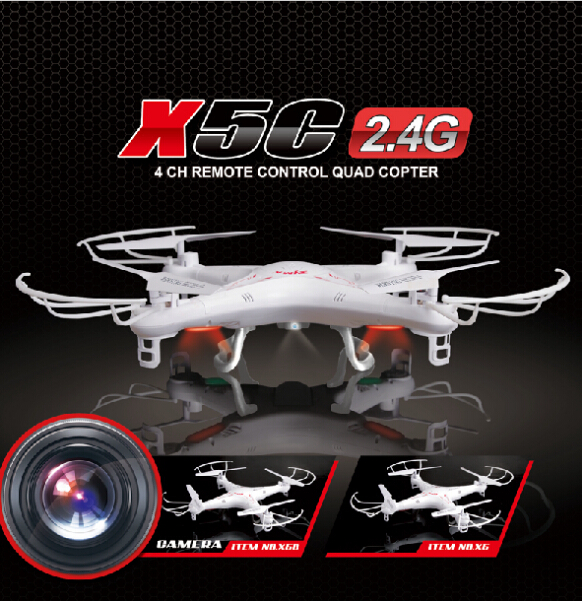 Cheapest Price! Hot Selling Syma X5C X5C-1 2.4G RC Helicopter 6-Axis Quadcopter Drone With Camera VS X5 No Camera free shipping(China (Mainland))