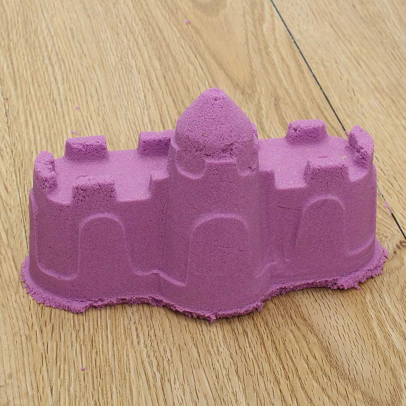 6Pcs/Set Portable Castle Sand Clay Novelty Beach Toys Model Clay For Moving Magic Sand Toys Gift(China (Mainland))